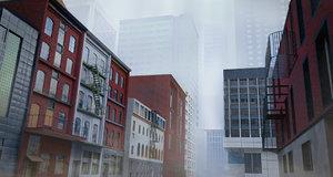 3D model building city asset 60