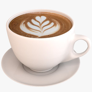 coffee latte 3D