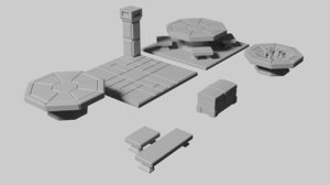 3D printable tile gaming model