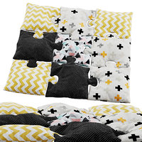puzzle pillows 3D model