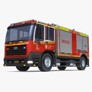 3D australian firetruck