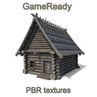 gameready wooden fantasy house 3D model