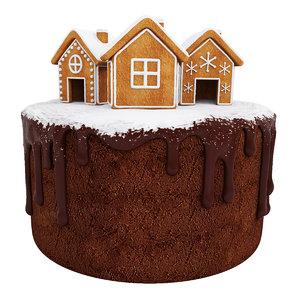 chocolate cake gingerbread 3D