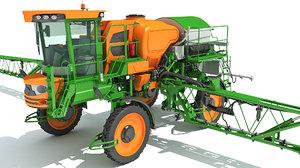 3D model farm sprayer spreader