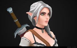 valenrhien - elf witcher 3D model