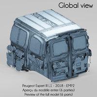 peugeot expert iii l1 3D model