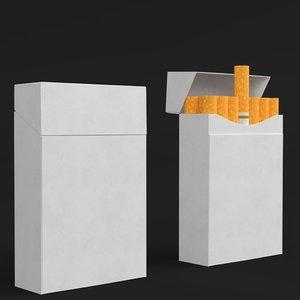 3D cigarette packs model
