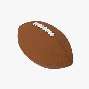 3D model blank american football
