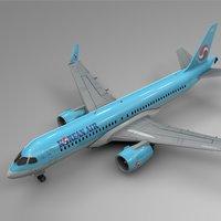 korean air airbus a220-300 3D model