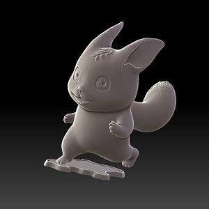 cute miniature sculpture printing model