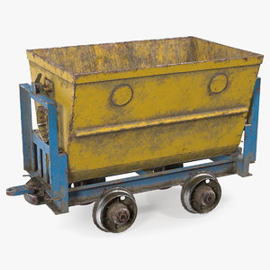 wagon dusty 3D model