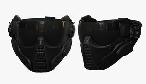 3D helmet mask