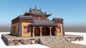 3D tibet temple model