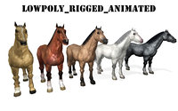 animal horse 3D model