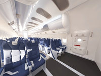 Airplane interior passenger compartment