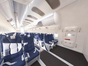 3D model aircraft interior