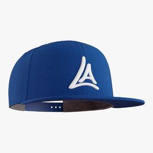 snapback cap 3D
