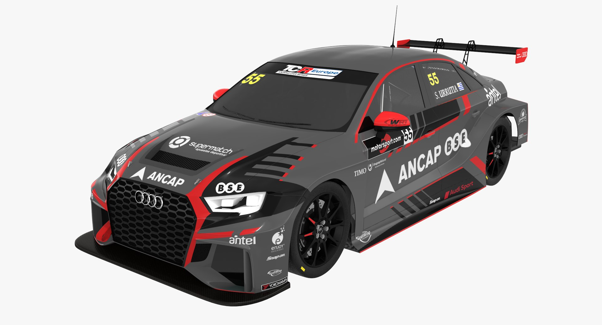 Audi rs3 lms tcr 3D - TurboSquid 1384730