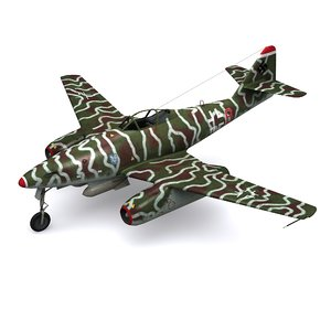 messerschmitt fighter sturmvogel 51 3D model