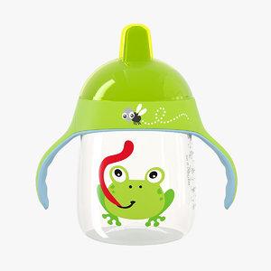 3D green spout cup handles