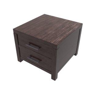 wood nightstand 3D model