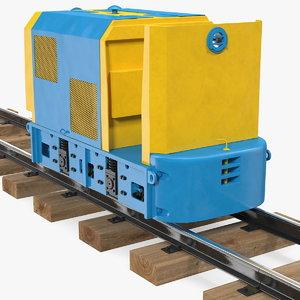 3D mining locomotive railway section