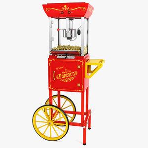 popcorn cart 3d max