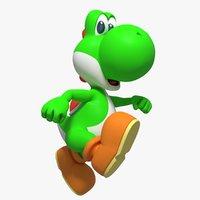 Yoshi Character Rigged
