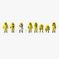 3D protective suit model