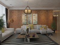 3D living room moderne