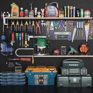 garage tools 3D