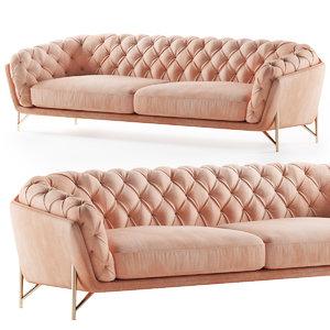 calia italia sofa art nouveau 3D model