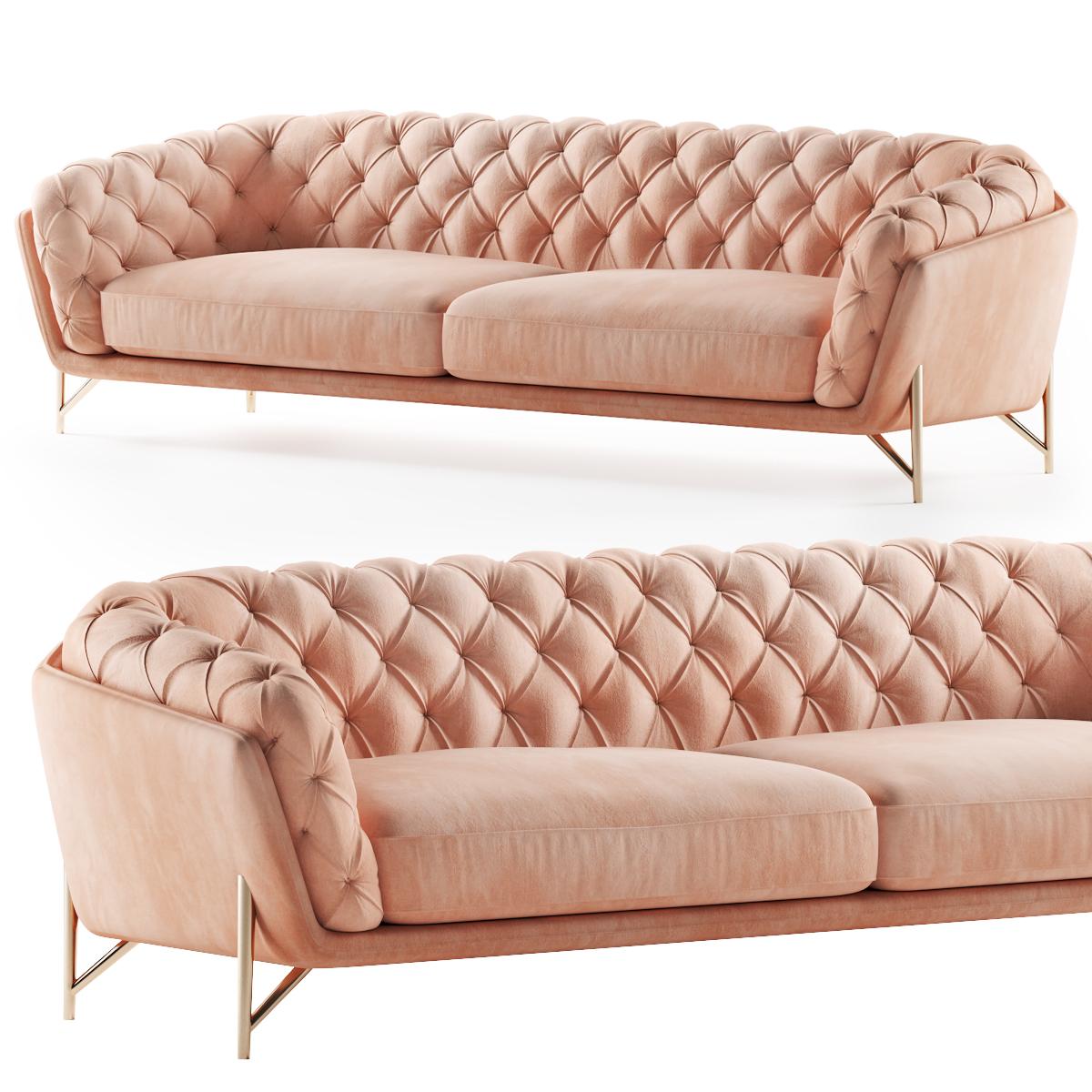Calia Italia Sofa Art Nouveau Model