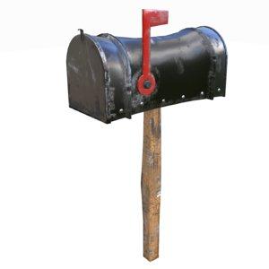 black mailbox 3D