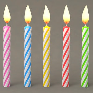 birthday candles 3D