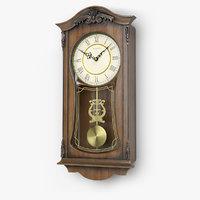 3D bulova pendulum wall clock model