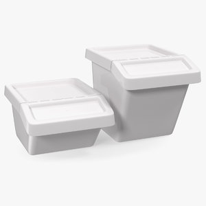 storage containers lid set 3D model