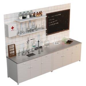 vintage chemical laboratory 3D model