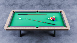 tennis table billiards 3D
