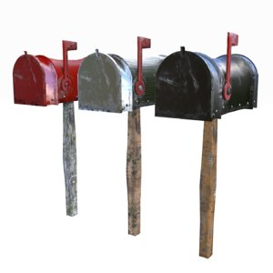 3D model american mailboxes
