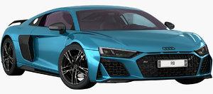 audi r8 2020 interior 3D model