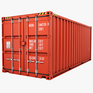 3d model container 20ft