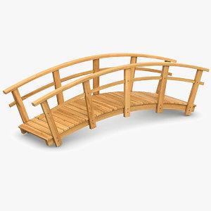 wooden bridge wood 3D model
