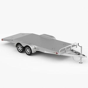 3D model car trailer