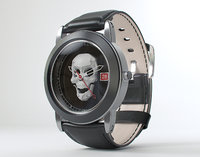 Skull watch 3D model