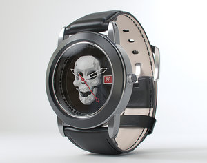 skull watch modeled model