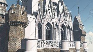 3d model castle cinderella