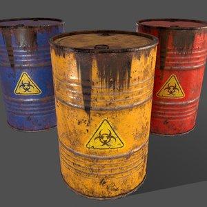 3D pbr oil model