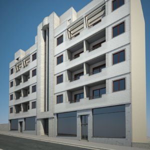 urban apartment building model