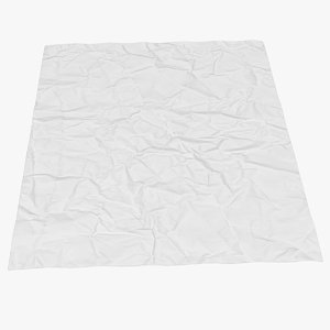 3D crumpled paper sheet